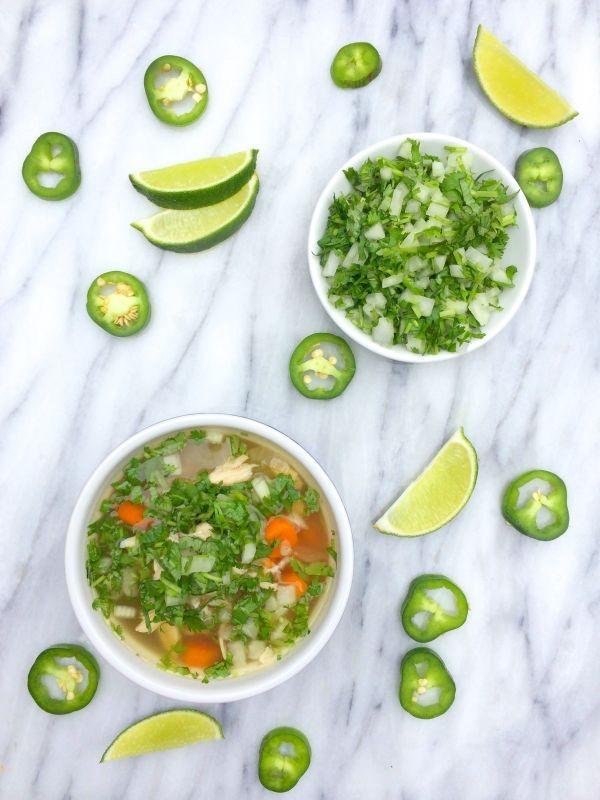Slow Cooker Caldo de Pollo (Mexican Chicken Soup) ~ The Lemon Bowl