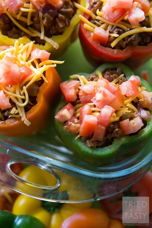 Taco Stuffed Peppers ~ Tried and Tasty