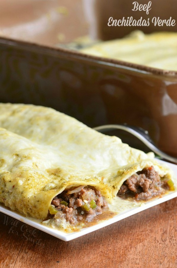 Beef Enchiladas Verde ~ Will Cook for Smiles