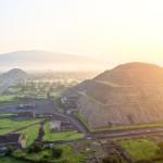 Sun and Moon pyramids at Teotihuacan