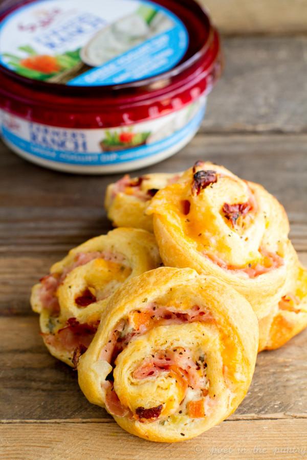 Baked Ranch Ham and Cheese Pinwheels