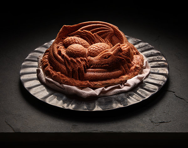 Be the Mother of Dragons in your own kitchen with a Dragon Cake pan from ThinkGeek!