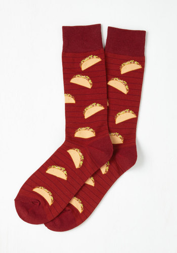 Taco Socks...so you can wear your heart on your sleeve. Or, your tacos on your feet.