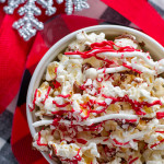 Peppermint Popcorn is what happens when Peppermint Bark meets popcorn. It's great for Christmas gifts and so easy to prepare!