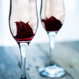Bubbly Hibiscus Cocktail to celebrate special occasions!