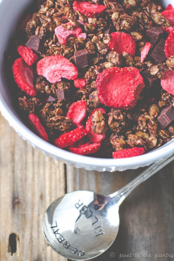 Chocolate Covered Strawberries Granola