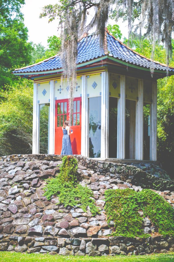 Buddha in Jungle Gardens on Avery Island {sponsored post}