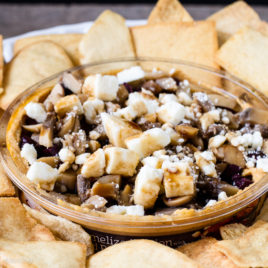 Spice up your hummus with delicious add-ins, like kalamata olives, mushrooms, feta, and balsamic reduction for the perfect unofficial meal! {sponsored post} #NationalHummusDay #UnofficialMeal