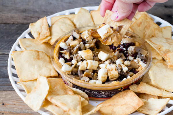 Happy National Hummus Day! Spice up your hummus with delicious add-ins, like kalamata olives, mushrooms, feta, and balsamic reduction for the perfect unofficial meal! {sponsored post} #NationalHummusDay #UnofficialMeal