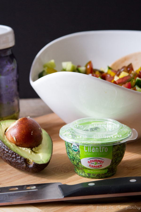Avocado Salad with a Cilantro Lime Vinaigrette is the perfect summer salad, made better with Gourmet Garden lightly dried Cilantro {sponsored post}