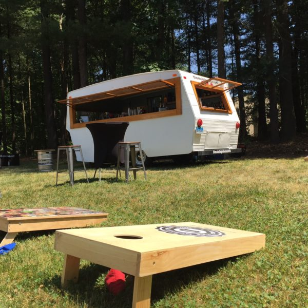 The Mobile Pub is a party on wheels, taking care of all of your guests' beverage needs with their converted 1962 Shasta Caravan. photo by The Mobile Pub