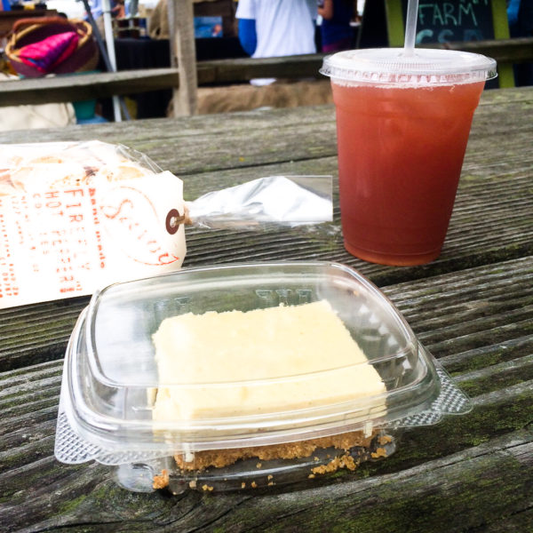 Bourbon Vanilla Cheesecake and Raspberry Early Grey Iced Tea - photo by Keith Paul