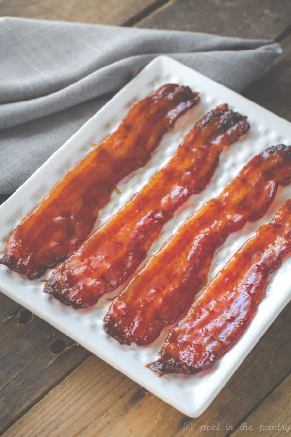 Sweet and Spicy Bacon is a version of candied bacon featuring a kick from TABASCO SWEET & Spicy Sauce. Elevate your pig candy! {sponsored post}