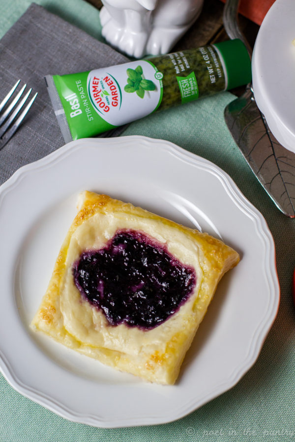 Basil Blueberry Cheese Pastries are an easy way to impress at brunch or breakfast. {sponsored post}