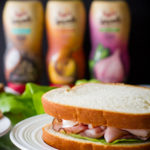 Honey Mustard Hummus Chicken and Ham Sandwich {sponsored post} @poetinthepantry