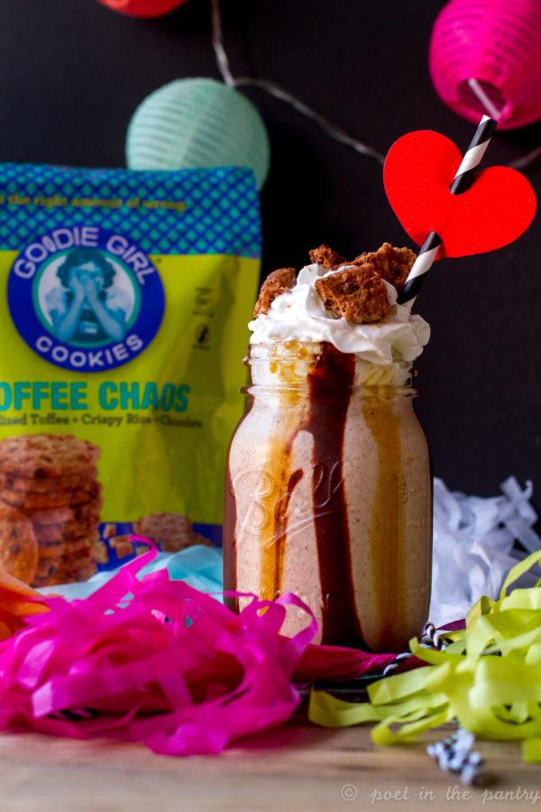 Goodie Girl Toffee Chaos Cookie Milkshakes {sponsored post}