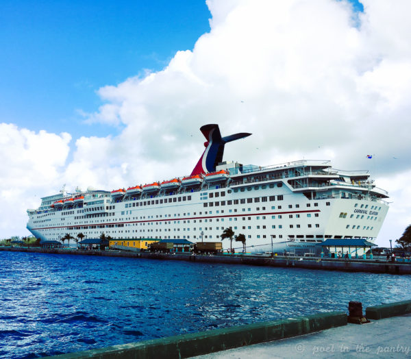 The Carnival Elation docked at Nassau in The Bahamas