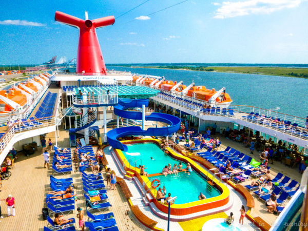 deck on the Carnival Elation