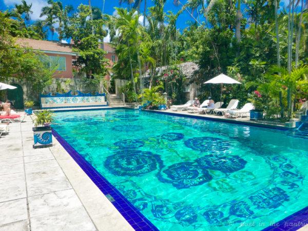 private pool at Graycliff, Nassau, Bahamas