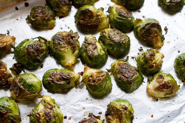 Spicy Brussels Sprouts with Tzatziki