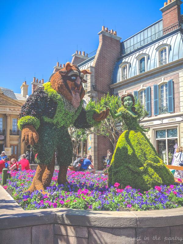 Beauty and the Beast topiary, Epcot, Walt Disney World