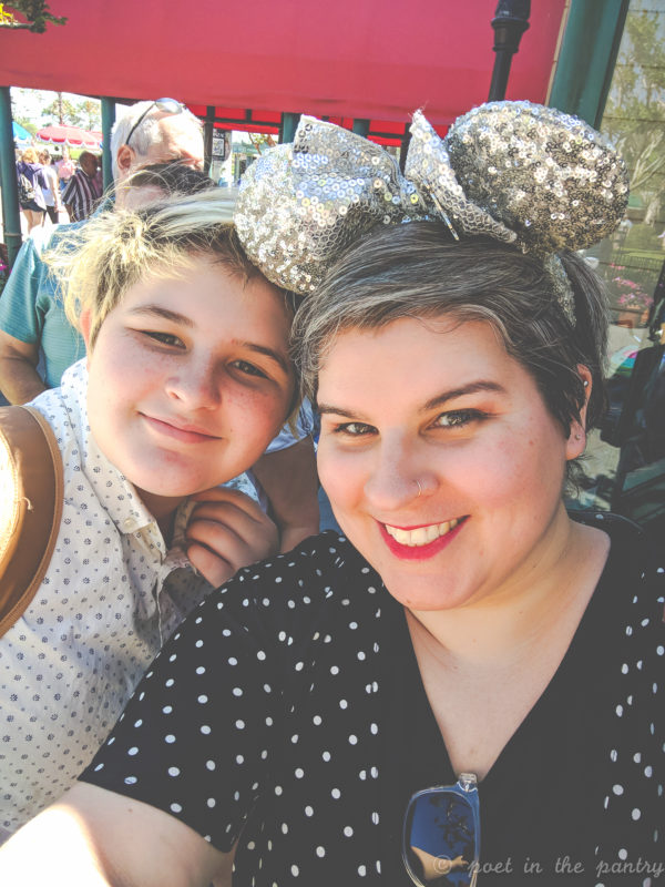 Making Disney memories-my eldest child and me at Disney's Epcot