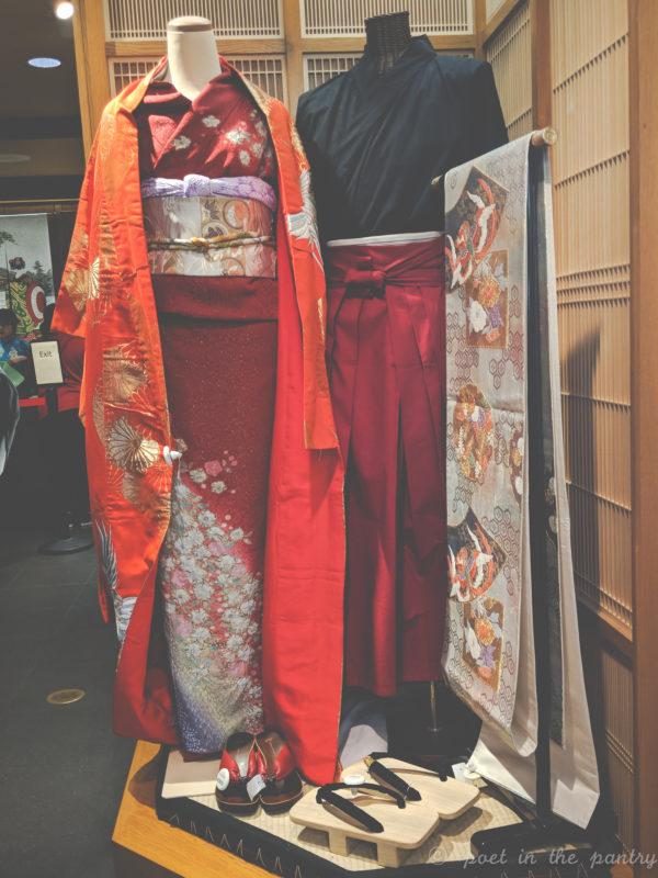 kimono in the Japan pavilion shop, Epcot, Walt Disney World