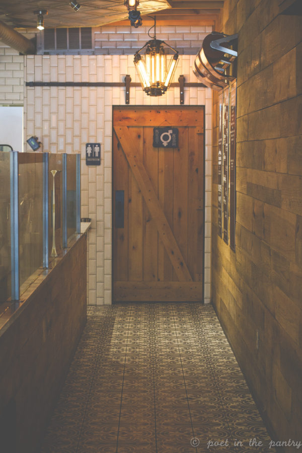 unisex bathroom at Milkcraft, West Hartford