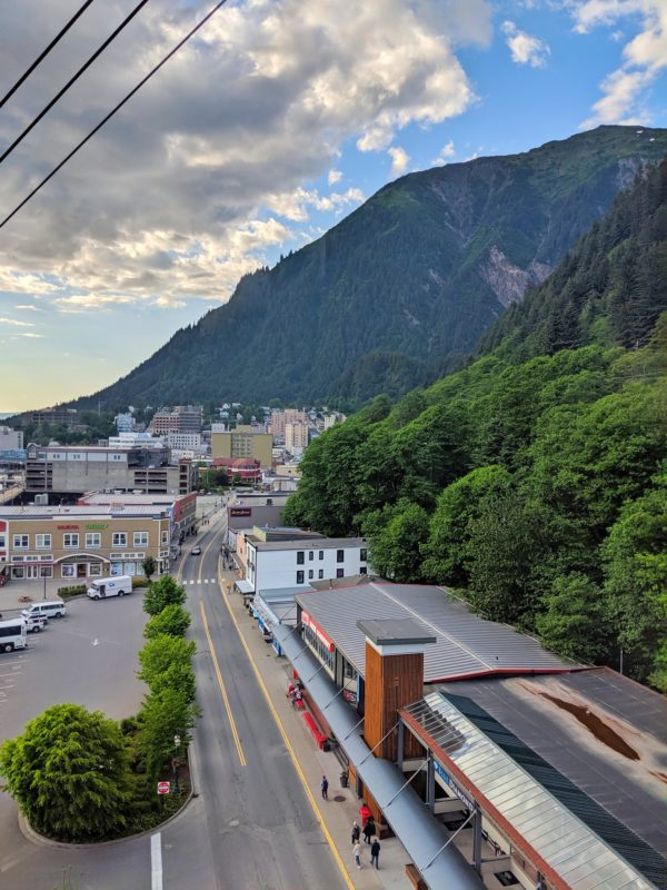 Downtown Juneau, Alaska, as viewed from the Mount Roberts Tramway