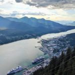 Gastineau Channel as viewed from Mount Roberts Tramway, Juneau, Alaska